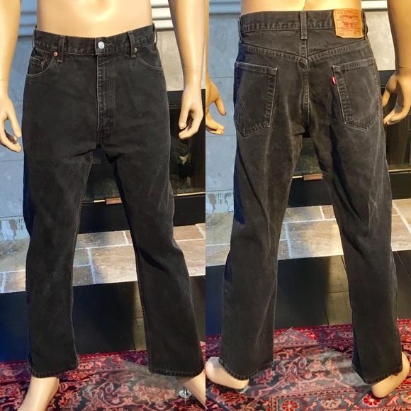 2baa7b75ff3 Levi's Jeans | Levis 505 Regular Fit Straight Black 36x30 | Poshmark